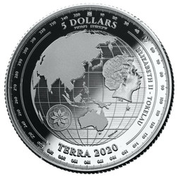 TERRA World Map 1 oz Silver Proof Like Coins 2020 Tokelau