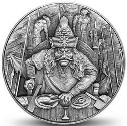 VLAD THE IMPALER Dracula 2 oz Ultra High Relief Silver Coin Niue 2020