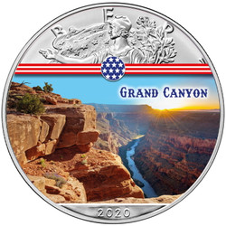 GRAND CANYON Landmarks USA 1 oz Silver Coin 2020 USA