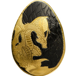 Golden Dragon Egg 0.5 g Gold Proof Coin Palau