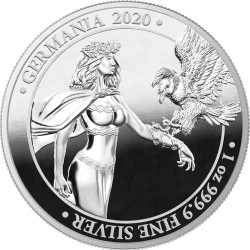 LADY GERMANIA 1 oz Pure Silver PROOF Coin 5 Mark 2020