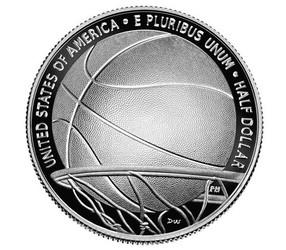 Basketball Hall of Fame 2020 Proof Clad Half Dollar