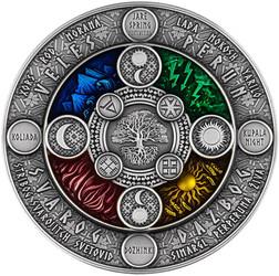 SLAVIC CALENDAR 2 oz Silver Coin with Resin insert Niue 2020