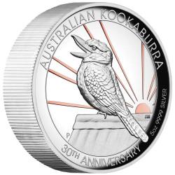 5 oz KOOKABURRA 30th Ann. Silver Proof High Relief Gilded Coin Australia 2020