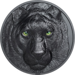 BLACK PANTHER Hunters By Night 2 oz Black Proof Silver Coin $10 Palau 2020