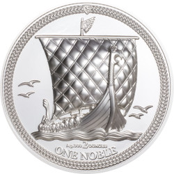 ONE NOBLE Piedfort 2 oz Silver Coin Isle of Man 2020