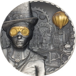 STEAMPUNK   3 oz Silver  Ultra High Relief Coin $20 Cook Islands 2020