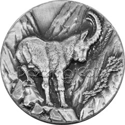 CAPRICORN SWISS WILDLIFE 2$ Niue 2014 .999 Silver Coin Relief