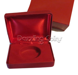 Display coin's Case With Leatherette Finish for 1 oz.coin