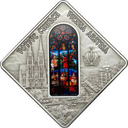 Votive Church Vienna - Sacred Art Silver Coin 10$ Palau 2012