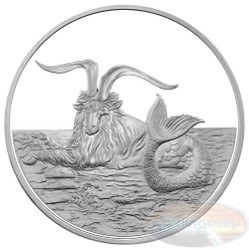 2015 Tokalau 1 oz Silver Coin - Capricornus Proof