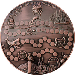 Palau 2015 $5 Treasure Dice Game Coin 680 g