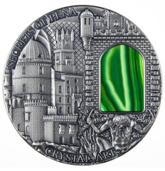 SECRETS OF PENA- Crystal Art 2 oz Silver Coin Niue 2014 $2