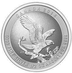 2015 Bald Eagle 1/2 oz Silver Coin - Canada .9999 Silver