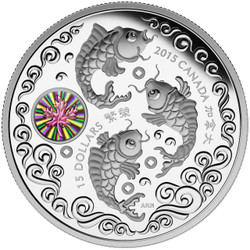 Maple of Prosperity ~ 2015 $15 1 oz .9999 Silver Coin