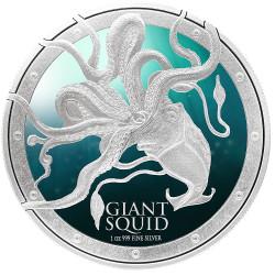 Giant Squid 1 oz Silver Coin Niue 2015