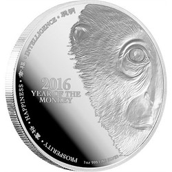 Year of the Monkey-1 oz Proof Silver Coin - Niue 2016