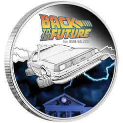 Back to the Future - Delorean - 1 oz Silver proof coin $1 2015