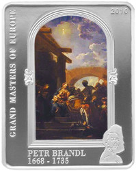 Petr Brandl OLD MASTERS 5$ Cook Island Silver Coin 2010