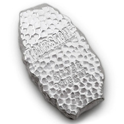 5 oz Tombstone Silver Nugget Bullion Bar .999 Fine Silver