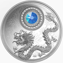 BIRTHSTONES - March - 2016 $5 Silver Coin with Swarovski® Crystal