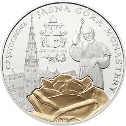 Jasna Gora Monastry ~John Paul II. Silver Coin 2$ Palau 2012