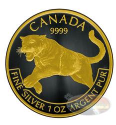 2016 Cougar Canada Predator Series-Black Empire 1 oz .9999 Silver $5