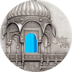 Palau 2016 $10 Tiffany Art - Jain Temple India 2 Oz Silver Coin R