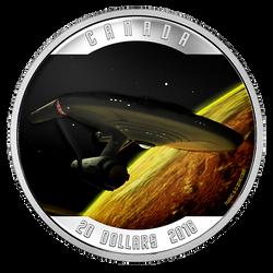 Star TrekTM: Enterprise (2016) - 1 oz. Pure Silver Colored Coin