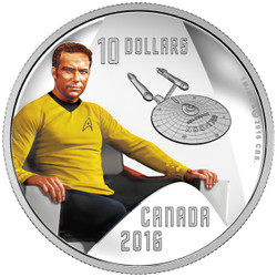 Captain Kirk - Star TrekTM Crew 1/2 oz. Pure Silver Colored -Coin (2016)