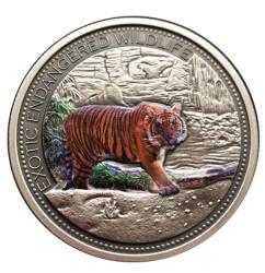 2 oz Malasyan Tiger High Relief Silver Coin $20 Fiji 2016