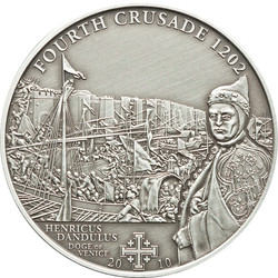 4th.CRUSADE: Dandolo of Venice Silver Coin 5$ Cook Islands 2010