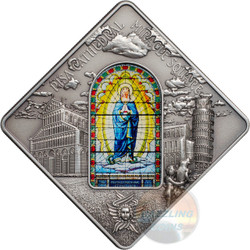 PISA Cathedral - Sacred Art Silver Coin 10$ Palau 2016