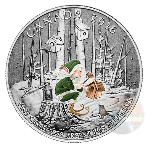 $25 Fine Silver Coin WOODLAND ELF Canada 2016