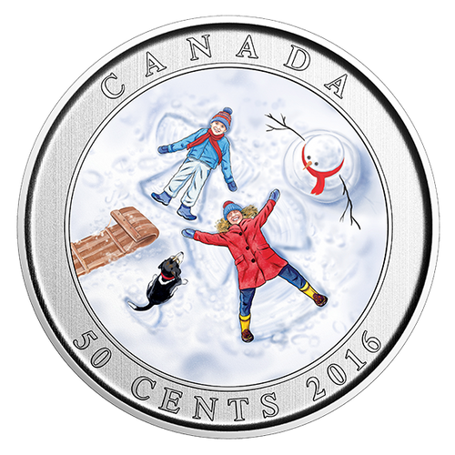 *SNOW ANGELS -  50-Cent Lenticular Coin - RCM Canada 2016