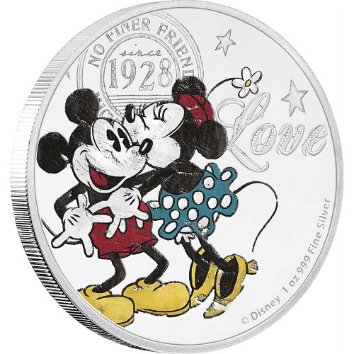 Mickey and Minnie - LOVE FOREVER  2017 Niue  Silver  Proof Coin