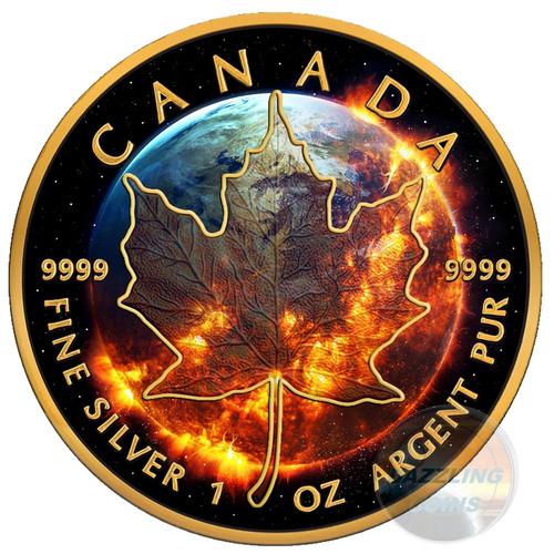 APOCALYPSE Maple Leaf 1 Oz Silver Coin 5$ Canada 2016