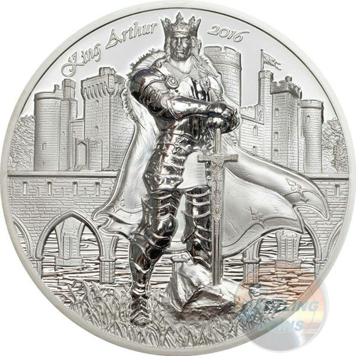 KING ARTHUR - THE LEGENDS OF CAMELOT - 2016 2 oz Ultra High Relief