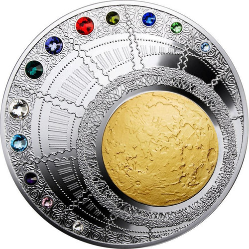 MAGIC YEAR OF HAPPINESS Swarovski Silver Coin 400g 100$ Niue 2013
