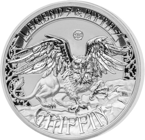 GRIFFIN Legends & Myths 2 Oz Silver Coin 5$ Solomon Islands 2016