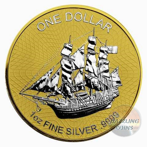 BOUNTY 1 oz Silver gilded Reverse Coin 2017 Cook Islands (201770) (view)