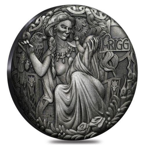 FRIGG Norse Goddesses 2 Oz Silver Coin 2$ Tuvalu 2017