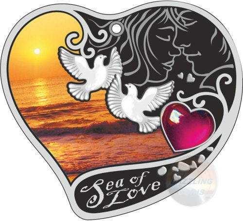 SEA OF LOVE Silver Coin 1$ Niue 2017