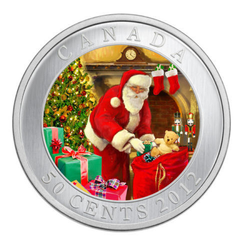 Santa Magical Visit - Lenticular 50-Cent Holiday Coin Canada 2012