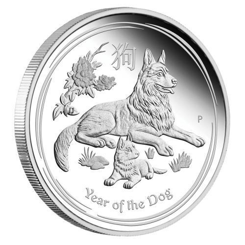 DOG Lunar Year Series II 1 oz Silver Coin Australia 2018