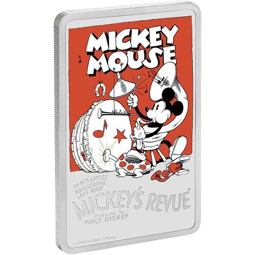 MICKEY'S REVUE 1930's Disney poster 1 oz Silver Coin 2$ Niue 2017