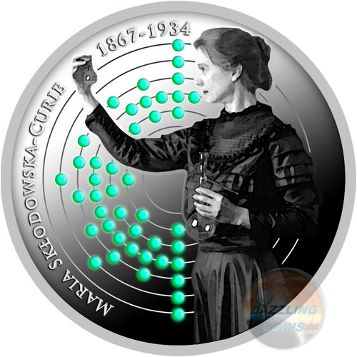 BIRTH OF MARIE SKLODOWSKA CURIE 150th Ann. Silver Coin 500 Francs Cameroon 2017