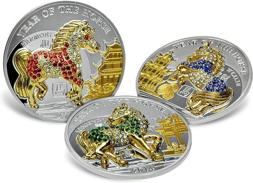 2014 500 Togrog Mongolia Nature Horse Proof Gold Coin Reputation First Coins & Paper Money Asia