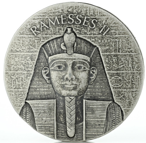 RAMESSES II Egyptian Relic 2 oz Silver Coin 2017 Chad