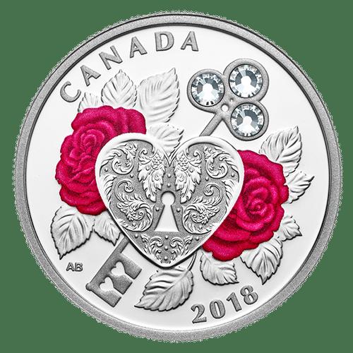 CELEBRATION OF LOVE – $3 1/4 oz Fine Silver Coin Canada 2018